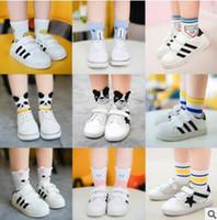 Wholesale Big Boys Socks - 5 Pack Baby Animal Striped Socks Ankle Korea Sock Summer Infant Toddler Big Boy Girl Cotton Sock Knitted Cheap Socks 4 Size