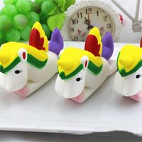 Kawaii Unicorn Squishy Slow Rising Retail Packaging Bonitinho Pendente Pão Creme de Bolo Scented Kids Toy Gift