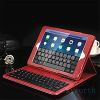 Wholesale Crazy Horse Ipad Mini - Top quality Removable Bluetooth keyobard leather case cover for ipad pro 9.7 air2 air mini 4 3 2 1 Crazy horse wireless