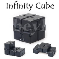 Wholesale Kid Packaged Toys - 2017 New Fidget Toy American Decompression Anxiety Toys Fidget Cube 4*4*4cm Infinity Cube With Retail Package