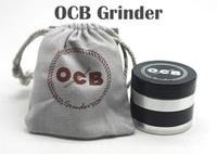 Wholesale Grinder Tabacco - Metal Grinders OCB Grinders Tabacco Herbal Grinders 4 Layers Aluminium Alloy Grinder 50mm Metal Grinders VS Sharpstone Grinders