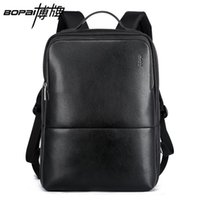 Nice- BOPAI Nice Vogue Mens Laptop Backpack Elegante Cool Backpack Coreano Moda Travel Mochila Durable Waterproof Book Bags