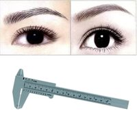 Wholesale Measuring Guide - Wholesale- Excellent Quality 1PC Microblading Reusable Makeup Measure Eyebrow Guide Ruler Permanent Tools Anne