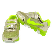 Wholesale Black Metallic Material - Light-Up Sneaker Kids Shoes Unisex Girls Boys Toddler Metallic PU Leather Mesh Material Double Outdoor Night Running Sport
