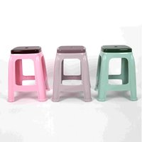 Wholesale Thicker child stool multifunction Plastic Big Size bench durable personal Square Dining table stool anti skid stool for footwear bench