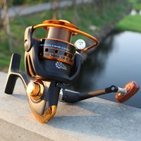 Fake Bait black flying insects - New Bearing Casting Spinning Fishing Reel Series Metal Rocker Reel Fly Fishing Line Wheel Fishing Rods