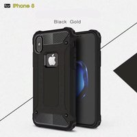 Wholesale Galaxy Note Wave Cover - For Samsung galaxy note 8 Hybrid Armor TPU Aluminum Hard Case for iphone 8 caus Dual Layer Slim Wave ShockProof Skin Defender Cover