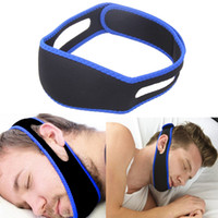 Wholesale chin straps - Anti Snore Chin Strap Stop Snoring Snore Belt Sleep Apnea Chin Support Straps for Woman Man Health care Sleeping Aid Tools OOA2134