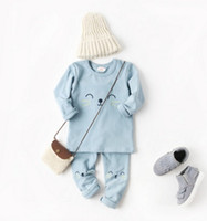 Wholesale Hot Seller Design In Autumn Or Winter For Baby Kids Infant Pajamas Embroidery Cotton Three Colors
