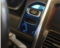 Wholesale volvo specials - Special Car Interior keyhole panel decorative cover trim Black stainless steel strip key ring cover sticker for Volvo XC60 XC70