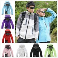 Wholesale Sport Winter Clothes For Women - TNF Women Coat Winter Jackets Soft Shell Coats Hoodie Outdoor Sports Polar Fleece Clothing for Skiing Keep Warm Clothes Sportswear S-XXL