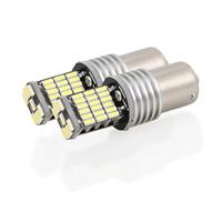 1156 bombillas led sin error al por mayor-1156 1157 Canbus Sin error Bombillas LED Blanco 4014 45SMD DC 12V Luces de marcha atrás Luz de freno de luz de señal de giro automático