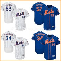 maillot authentique 52 achat en gros de-Maillots de baseball New York Mets Noah Syndergaard 52 # Yoenis Cespedes Majestic Home 2017 Alternate Authentic Collection Flex Base MLB Jersey