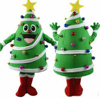 Wholesale Fancy Dress Materials - hot sale EVA Material Helmet Christmas Tree mascot costume with big yellow star and colorful balls newest holiday carnival fancy dress