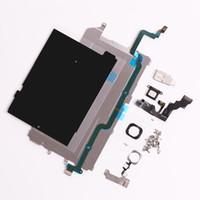iphone kulak kablosu hoparlörü toptan satış-DHL veya EMS Tarafından Ön Kamera Kulak Hoparlör Plaka ev düğmesi flex kablo iphone 6 Artı 5.5 Tam LCD Ekran Onarım Parçaları