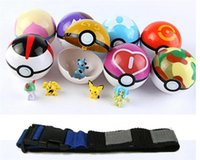 Wholesale toys Poke go Poké Clip N Carry Poke Ball Belt plastic poke ball action figure doll Pikachu Style random