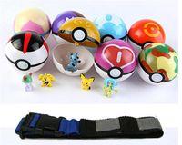 Wholesale N Figures - toys -Poke go Poké Clip 'N' Carry Poke Ball Belt plastic poke ball+action figure doll Pikachu Style random wholesale