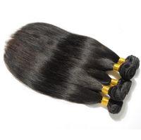 Wholesale Hand Straight Weft - Firsrt hand quality Brazilian virgin hair straight 5pcs cheap human hair bundles free shipping free shedding