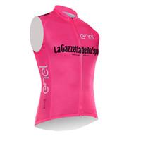 Wholesale Tour France Vests - New Arrivals Tour de Italy Men cycling sleeveless jersey vest Tour de France cheap-clothes-china bicicleta maillot ciclismo D0626