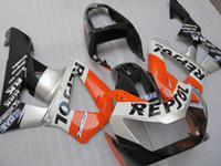 Wholesale Honda Cbr929rr Repsol Fairing - New ABS Injection fairing kits for HONDA CBR900RR 929 2000 2001 CBR900 929RR CBR929 00 01 CBR929RR bodywork set orange silver black repsol