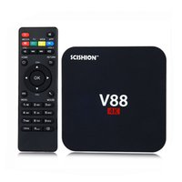 Android 6.0 V88 tv box Mais barato RK3229 Quad-Core 1GB 8GB Smart Tv Box WiFi 3D HDMI TV Cheap Set-top Box Media Player OTH036