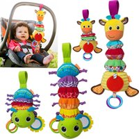 Wholesale Toy Caterpillar Bug - Wholesale- Infantino Twist Caterpillars Sound Hanging Baby Rattles with Teethers Multifunction Bed Car Hang Toy Baby Musical Bug