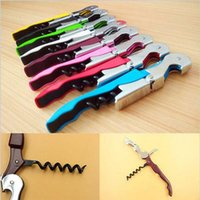 Wholesale Function Bars - 8 Colors Wine Corkscrew Opener Stainless Steel Bottle Opener Wine Corkscrew Bar Tool Easy Use Creative Multi-function YYA119