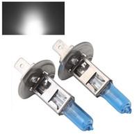 Wholesale Wholesale Headlight Auto Parts - 2Pcs 12V 55W H1 Xenon HID Halogen Auto Car Headlights Bulbs Lamp 6500K Auto Parts Car Light Source Accessories