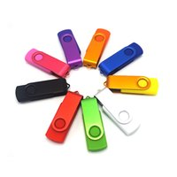 Wholesale Usb Flash Drive Yellow - Black red green blue yellow Swivel usb flash drive stick disk pen drive customized logo engrave logo or color print logo 2GB 4GB 8GB 16GB