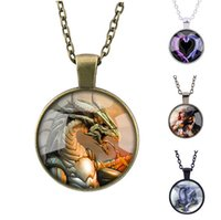 Dragon Tote Collier Ice Fire Dragons Timestone Pendants Femme Chaussette Homme Sweater Argent Bronze Black Collection