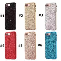 Wholesale Back Cover Iphone Multi - Fashion Shimmering Powder 2-in-1 Full Protection Cell Phone Case Multi Colors PC Back Cover Dirtprooof For Iphone 6 6s 7 Plus