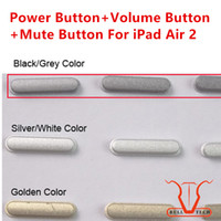 Wholesale Ipad Air Keypad - 3-in-1 Mute Button Power on-off Switch Button+Volume Updown Button+Mute Buttons Keypad Side Buttons Set for iPad 6 Air 2