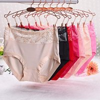 Wholesale Large Ladies Underwear - Good A++ In the waist large size 3D stereo sexy sexy ladies underwear to mention hip women lace bamboo charcoal fabric NP043