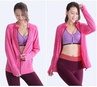 Wholesale Women Clothes Jack - Comfortable Gym Breathable Dry Quick Yoga Shirts Ropa Jack Women's Sport Shirts Fitness Training Long Sleeve Clothing Tops Outfit Coat