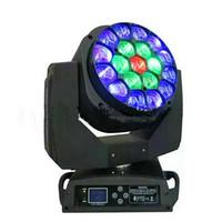 iluminación de haz en movimiento al por mayor-DMX512 LED BEAM La cabeza móvil Eyes Bee para 19 x 15 W rgbw 4 en 1 LED B-Eye 19 K10 Etapa de luz