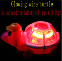 Wholesale Toys Need Battery - Glowing cable will run the turtle will be flashing light flashing turtle LED toys do not need batteries children's toys Luminous toys 10 lot