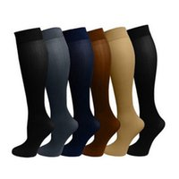 meias de tubo adulto venda por atacado-2018 Novos homens de Alta qualidade Anti-Fadiga meias tubo de compressão durável adulto longo espessamento respirável Chupar meias de suor quente