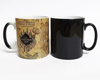 Wholesale Color Changing Cups Wholesale - Harry Potter Marauder Map Color Changing cup mug Magic heat sensitive Coffee Mug Tea Cup gift Free Shipping