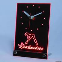 Wholesale Exotic Tables - Wholesale-tnc0486 Budweiser Exotic Dancer Stripper Table Desk 3D LED Clock