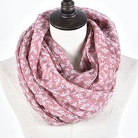 Wholesale Chevron Polyester Infinity Scarf - Guttavalli Hot Selling Fashion Women Solid Flowers Soft Loop Scarf Small Trees Print Winter Infinity Scarves Warm Shawl Chevron Ring Wrap