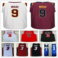 Wholesale Brand Shirt Free Shipping - #9 Dwyane Wade Jersey 2017 2018 New Brand Icon Wine Red White Stitched 3 Dwyane Wade Basketball Jerseys Shirt Free Fast Shipping