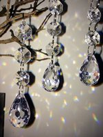 grânulo de cristal guirlanda venda por atacado-Claro 20 Pçs / lote, 10 Cm Garland Strands Cristal Acrílico Cortina Beads, Suprimentos Decoração de Natal, Decoração Da Árvore de Natal Ao Ar Livre