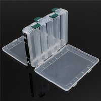 wholesale fly fishing lure 2018 - Wholesale- Latest 10 Compartments Fly Fishing Lure bait Tackle Box Case Double Sided High Strength Transparent Visible with Drain Hole