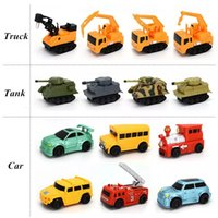 Wholesale Trucks Toys For Kids - Creative Gift for Child MINI Magic Pen Inductive Fangle Vechicle Children's CAR Truck Tank Toy Car Random Color Delivery