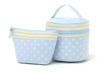 Compra Borsa Blu Per Le Ragazze-H1944 DUTE SWEET GIRL Bella blu bianco Dots Perfect donne Wash Bag Cosmetic Storage Bag 2 set sacchetto 0.4