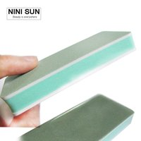 Wholesale Buffer Boards - 100pcs Lot Blue Mini Sponge Sanding Block Emery Board Nail Files For Nail Care Art Tool Manicure 2-Sided Nails Buffer Block