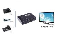 selector hdmi al por mayor-Mini 3 puertos conmutador selector de caja conmutador HDMI con mando a distancia 1080P conmutador HDMI para PS3 para Xbox 360 HD DVD TV