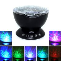 1pcs Ocean Wave Starry Sky LED Night Light Projecteur Luminaria Nouveauté Lampe USB Lampe Nightlight Illusion pour bébé Enfants