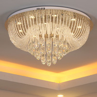 Wholesale High End Light Switches - Dimmable crystal chandeliers high end K9 crystal ceiling luxury chandelier lights pendant lights living room aisle hotel hall villa