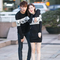 Wholesale reindeer christmas sweater - Wholesale Men's Sweater With Deer Winter Couple Matching Christmas Sweaters Reindeer Pullover Knitted Brand Polo Ugly Sweater free ship